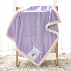 Плед детский, фиолетовый. 75*100 см. Lama