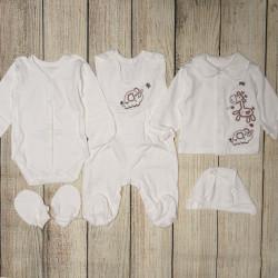 Набор для новорожденных, из 5 ти предметов. Молоко.