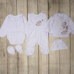 Набор для новорожденных, из 5 ти предметов. Белый.