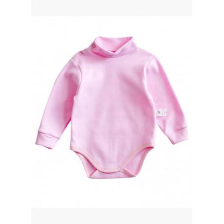 Боди для девочки, розовый. Футер.