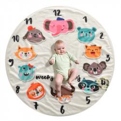 Одеяло ростомер, для новорожденных. 95 см. Animal