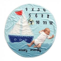 Одеяло ростомер, для новорожденных. 95 см. Boat.