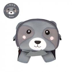 Рюкзак детский, серый. Енот.