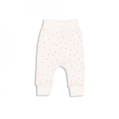 Штанишки для девочки, белые с розовым. Корона.
