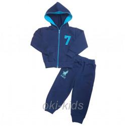 Спортивный костюм для мальчика, синий.
