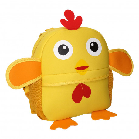 Детский рюкзак, желтый. Цыпленок.