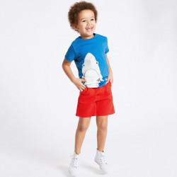Комплект для мальчика, футболка и шорты. Акула