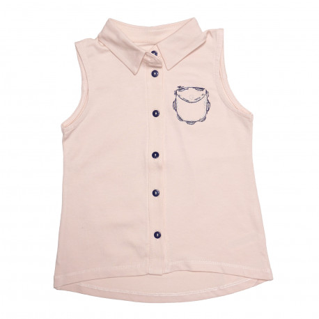 Блузка для девочки, бежевая.