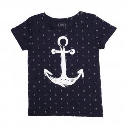 футболка для мальчика, синяя. Якорь.