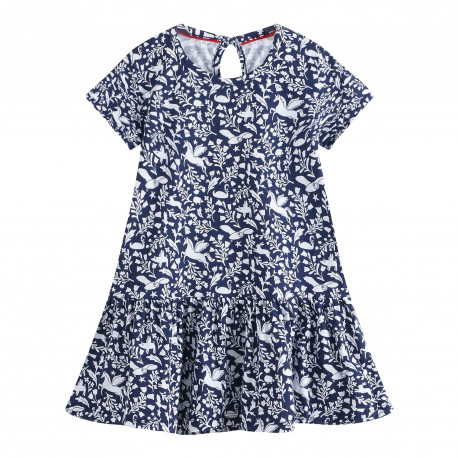 Платье для девочки, синее. Пегас.