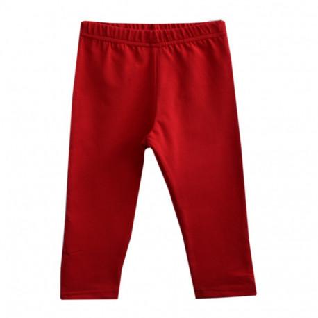 Бриджи для девочки, за колено. Красные.