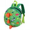 Детский рюкзак, зеленый. Динозавр.