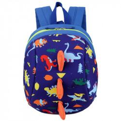 Детский рюкзак, синий. Динозавр.