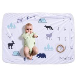 Одеяло ростомер, для новорожденных. 76*102 см. Пикник.