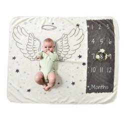 Детское одеяло, ростомер. Молочное 102*152 см. Ангелочек.