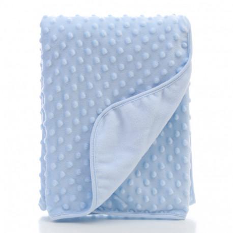 Плед детский, голубой. 75*100 cм Пузырьки.