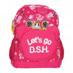 Рюкзак детский, розовый. Космос.