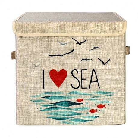 Складной ящик для игрушек. Море.