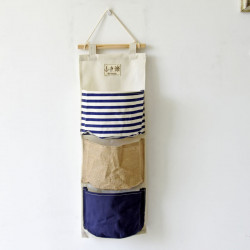Подвесной органайзер, синий. 3 кармана. Мозаика.