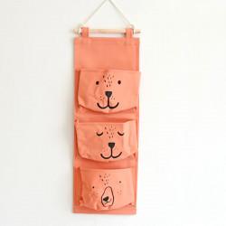 Органайзер настенный для хранения, оранжевый. Мишка.