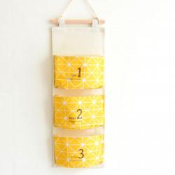 Органайзер настенный для хранения, желтый. Улыбка.