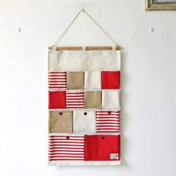 Органайзер настенный для хранения, красный. (13 карманов)
