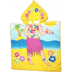 Детское полотенце пончо. Девчушка.