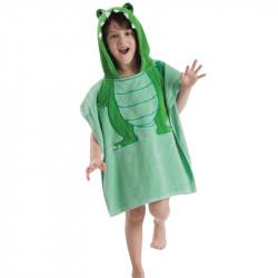 Детское махровое полотенце, зеленое. Дракоша.