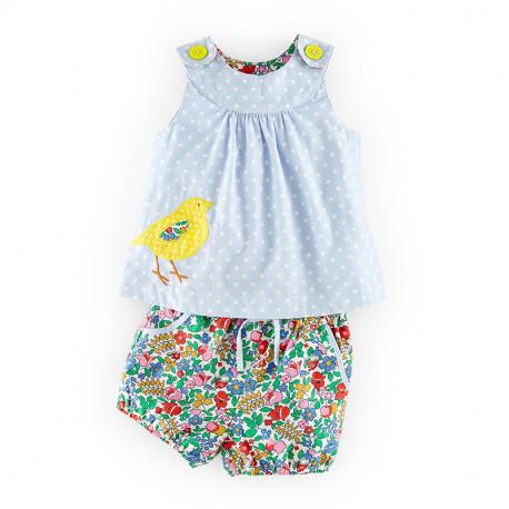 Костюм для девочки, шорты и футболка. Цыпленок.