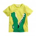 Футболка для мальчика, салатная. Крокодил.