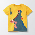 Футболка для мальчика, желтая. Бегемотик.