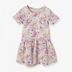 Платье для девочки, серое. Лето.