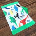 Полотенце махровое с капюшоном, для мальчика. Динозавры. 76*127 см.