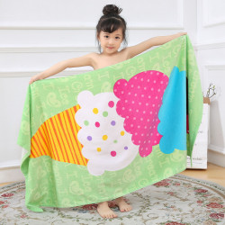 Полотенце махровое для девочки. Эскимо. 150*75 см