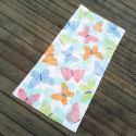 Полотенце махровое для девочки. Бабочки. 150*75 см