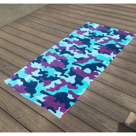 Полотенце махровое для мальчика, синее. Морской карал. 150*75 см