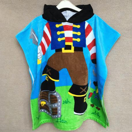 Детское полотенце пончо, хлопок. Пират. 60*60 см.