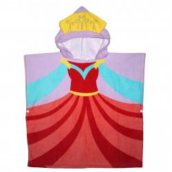 Детское полотенце, пончо, розовое. Принцесса.