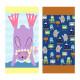 Полотенце махровое, розовое с голубым. Кролик. 160*80 см.