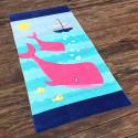 Полотенце махровое, детское,бирюзовое. Два дельфина. 160*80 см.