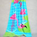 Полотенце махровое, детское, голубое. Фламинго. 150*75 см