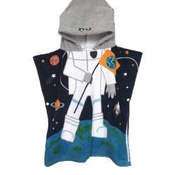 Детское полотенце пончо, хлопок. Астронавт. 60*70 см.