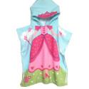 Детское полотенце пончо, хлопок. Принцесса. 60*70 см.