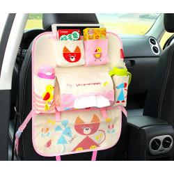 Органайзер для автомобиля, детский, розовый. IPAD Котик.
