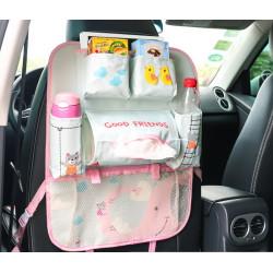 Органайзер для автомобиля, детский, серый с розовым. Слоник.