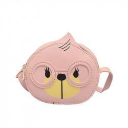 Сумка детская, для девочки, розовая. Мишка.