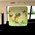 Защитная шторка для автомобиля. Динозавр.