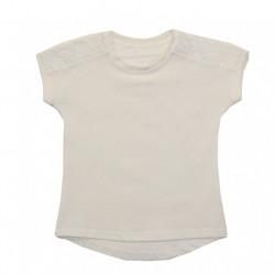 Блуза для девочки, молочная. Джулия.