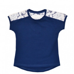 Блуза для девочки, синяя. Джулия.