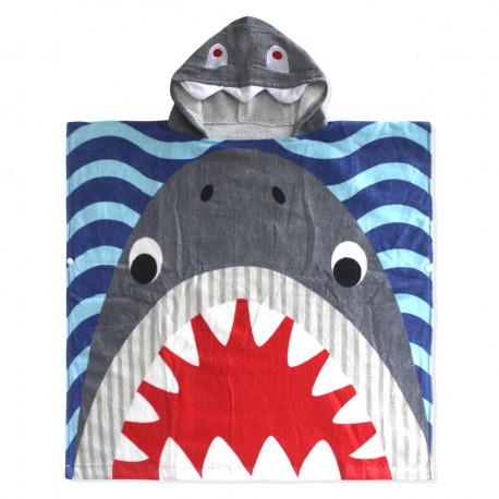 Полотенце пончо. Акула серая